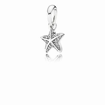 Pandora Tropical Starfish Pendant, Clear CZ 390403CZ