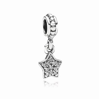 Sparkling Star Pave Silver Hanging Charm - PANDORA 791024CZ