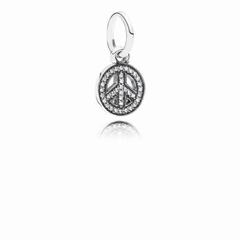 Symbol of Peace Hanging Charm 791308CZ