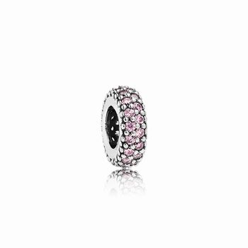 Pandora Pink Pave Inspiration Spacer Charm 791359PCZ
