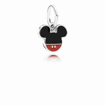 Pandora Disney, Mickey Icon Dangle Charm, Mixed Enamel 791461ENM