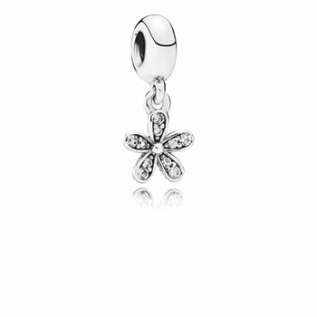 Pandora Dazzling Daisy Dangle Charm, Clear CZ 791491CZ