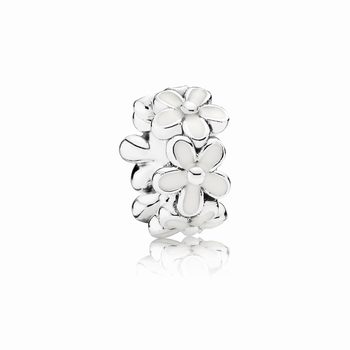 Pandora Darling Daisies Spacer, White Enamel 791495EN12
