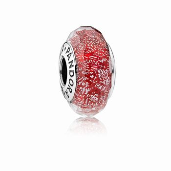 Pandora Red Shimmer Murano Glass Charm 791642