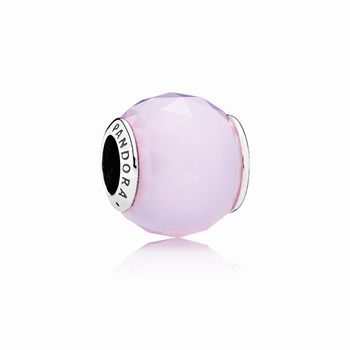Pandora Geometric Facets Charm, Opalescent Pink Crystal 791722NO
