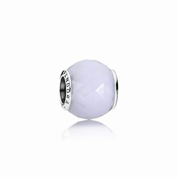 Pandora Geometric Facets Charm, Opalescent White Crystal 791722N