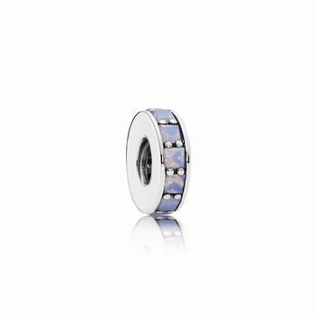 Eternity Spacer, Opalescent White Crystal 791724NOW