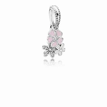 Pandora Poetic Blooms Dangle Charm, Mixed Enamels & Clear CZ 791