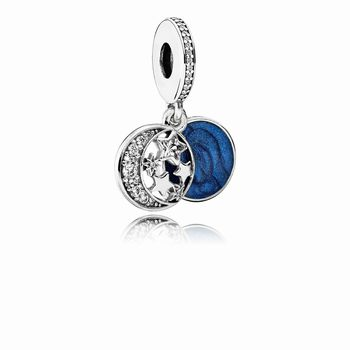 Pandora Vintage Night Sky Dangle Charm, Shimmering Midnight Blue