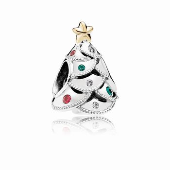 Pandora Festive Tree Charm, Multi-Colored CZ 791999CZRMX