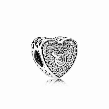 Pandora Disney, Mickey & Minnie Sparkling Heart 792049CZ