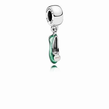 Pandora Disney, Tinker Bell's Shoe Dangle Charm, White Cultured