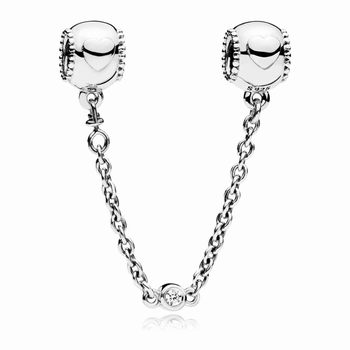 Pandora Embossed Hearts Safety Chain 796457CZ